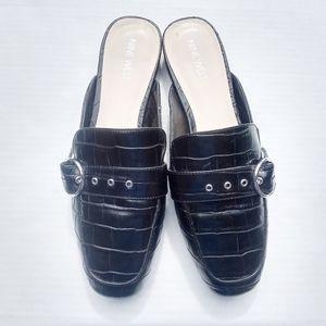 ❤Nine West Embossed Crock Buckle Mule loafer shoes